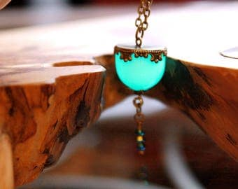 Glass Dome Pendant GLOW in the DARK - 01
