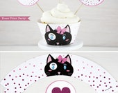 Cat Party Cupcake Toppers...