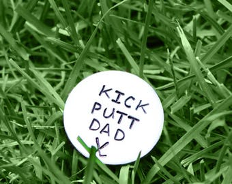 Golf Marker, Kick Putt Dad, Golf Ball Marker, Fathers Day Gift, Gifts For Dad, Personalized Golf Marker, Golf Gifts, Golf Accessories