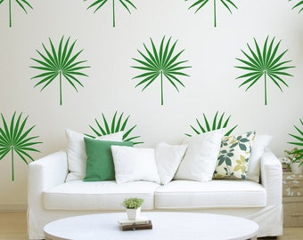 Palm Leaf Wall Decal, Tropical Leaf Decal, Bedroom Decor, Palm Leav Stickers, Living Room Decor, Tropical Leaves, Hawaiian Decal, ID716 [p]