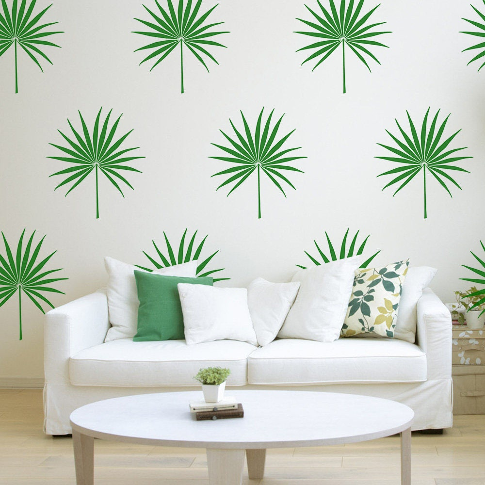 Palm leaf wall decal tropical leaf decal bedroom decor palm zoom amipublicfo Image collections