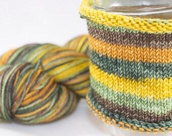 Self Striping Sock Yarn / Hand Dyed in Taurus Colorway / Zodiac Inspired Colorway / Superwash Merino and Fingering Yarn