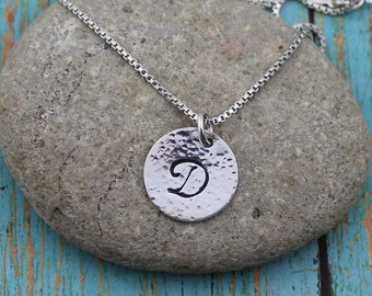 Script Initial Pendant, Personalized, 14K Gold-Filled or Sterling Silver, 16 - 24-Inch Bead or Box Chain, Everyday, Interchangeable Necklace