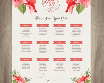 Wedding Seating Chart {Destination}