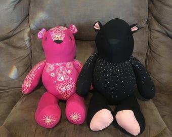 3 - 7 Specialty Memory Teddy Bear Keepsakes