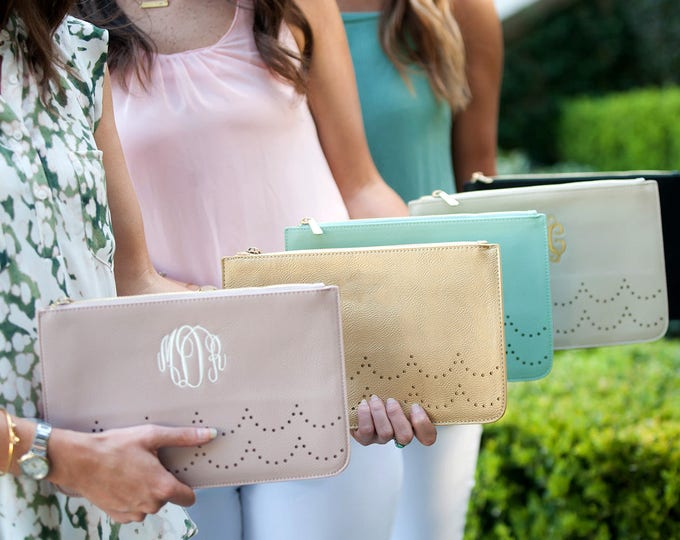 Monogrammed Clutch, Ava Clutch, Monogrammed Purse, Gifts for Her, Bridesmaid Gifts, Mother's Day Gifts, Monogrammed Gifts