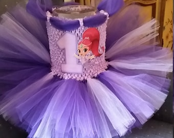 Shimmer or Shine Costume Flower Girl Tutu Dress