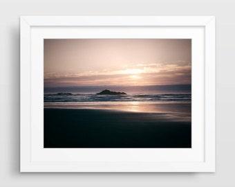 Beach Photography, Beach Decor, Ocean Photography, Sunset Photo, Large Wall Art, Landscape Photography, Beach House Decor, Nautical Decor