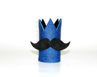 Mustache Birthday Crown // Boys First Birthday Crown // Ready to Ship // by Born Tutu Rock