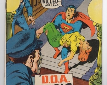 "Superboy Vol. 1 #151 ""D.O.A. - In Cold Blood"" - DC Comics 1968 - F+ Condition - Silver Age Comic - Death of Lana Lang"