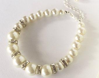 Wedding Bracelet for Bride, Pearl Wedding Bracelet, Bridal Bracelet, Ivory Bracelet, Pearl Bracelet, Pearl Bracelet, Ivory Jewelry