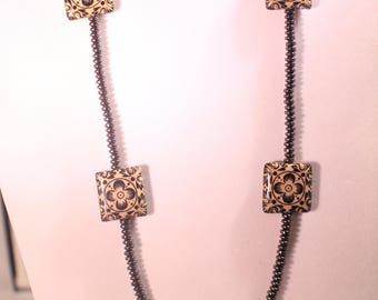 Black & Beige Necklace