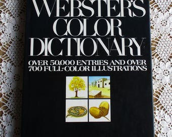 Vintage Dictionary - Webster's Color Dictionary, Edited y John Gage Allee, Ph.D., Bonanza Books 1979, Vintage Reference, Coffee Table Book