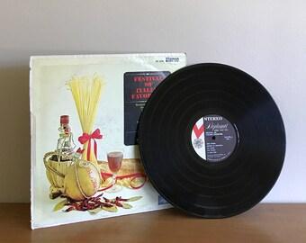 vintage italian record   festival of italian favorites