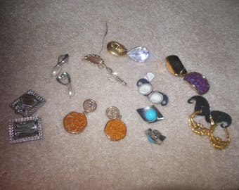 Vintage Jewelry Earrings Post and Clip Lot Resale
