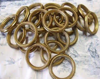 French Vintage Curtain Rings. Pressed Metal with decoration 25 Home Decor. Country Living.Window Hardware