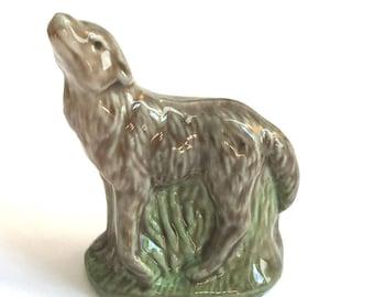 Wade Whimsie Whoppa Wolf Figurine - 1977- 81 - Wade Figurines - Wade Whimsies - Wade Wolf - Wade Whoppa - Whimsie Wolf - Wolf Whoppa - Wades