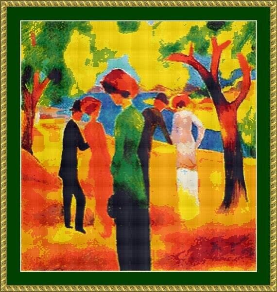 Lady In A Green Jacket Cross Stitch Pattern /Digital PDF Files /Instant downloadable