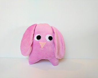 Pink Floppy Ear Rabbit Stuffed Animal / Super Soft Stuffed Pink Bunny Plush