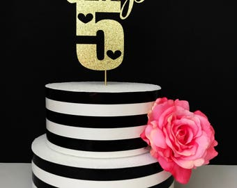 Name and age Birthday cake topper, custom age cake topper, birthday cake topper, personalized birthday cake topper, any age cake topper