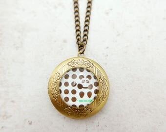 Panda Necklace, Panda locket, panda jewelry,  2020m