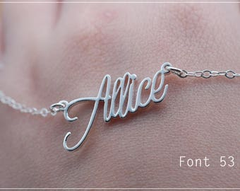 Custom Name Necklace-Personalized Name Necklace-Custom Name Gift-Your Name Necklace-Bridesmaids Jewelry-Children Names-Gift for mom. #NF53