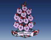 Pig (12) ornament Family tree