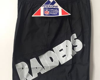 vintage los angeles raiders apex one shorts mens size large deadstock NWT 90s