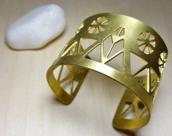 Ancient Greek Jewelry, Greek Cuff Bracelet, Statement Cuff, Wide Cuff Bracelet, Ancient Greek Cuff, Cycladic Art, Dovecote, Elina Jewellery