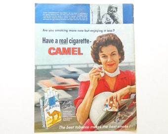 Camel Cigarette Ad with Female Astronaut Betty Skelton
