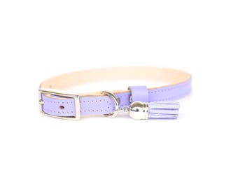 Cat or Small Dog Collar // Lavender // Optional ID Tag