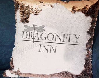 Dragonfly Inn - Stars Hollow - Gilmore Girls - Hand Crafted - Mermaid Cushion