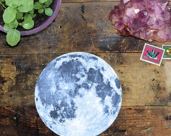 Full Moon Sticker Decal - Waterproof Car Decal - Laptop, Water Bottle & Phone Sticker - Astrology Sticker - Vinyl Sticker Decal