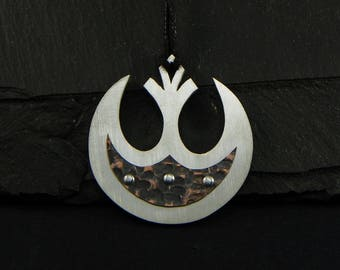 Star Wars pendant in Sterling silver 925 and copper - limited edition - made in italy
