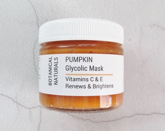 Pumpkin Glycolic Face Mask, Fruit Enzyme Facial Mask, Vitamin C