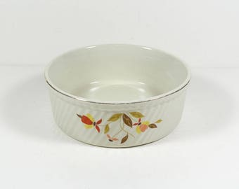 Hall Mary Dunbar Autumn Leaf  Round French Baker 3 Pt Round Casserole Jewel Tea Hall's Superior