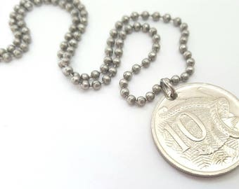 2006 Australian Coin Necklace  - Stainless Steel Ball Chain or Key-chain