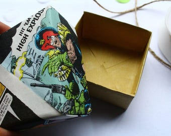 Origami Gift Box For Jewellery Comic Book Theme