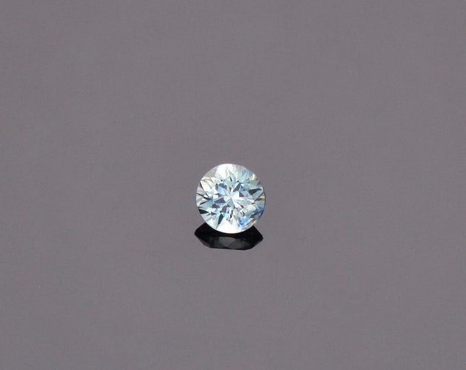 SALE EVENT! Ice Blue Green Sapphire Gemstone from Montana, Round, 0.39 cts., 4.2 mm.