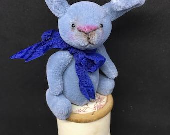 Forgot-Me-Not - One of a Kind Miniature Artist Bear (Bunny)