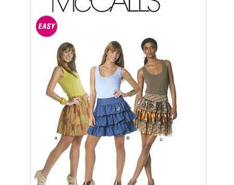 EASY SEW, Tiered, Layered, Ruffled, Gathered, Skirt Pattern by McCall's M 6289