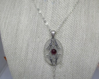 Antique Camphor Garnet Pendant