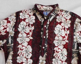vintage Hawaiian men's shirt RJC made in Hawaii size XL