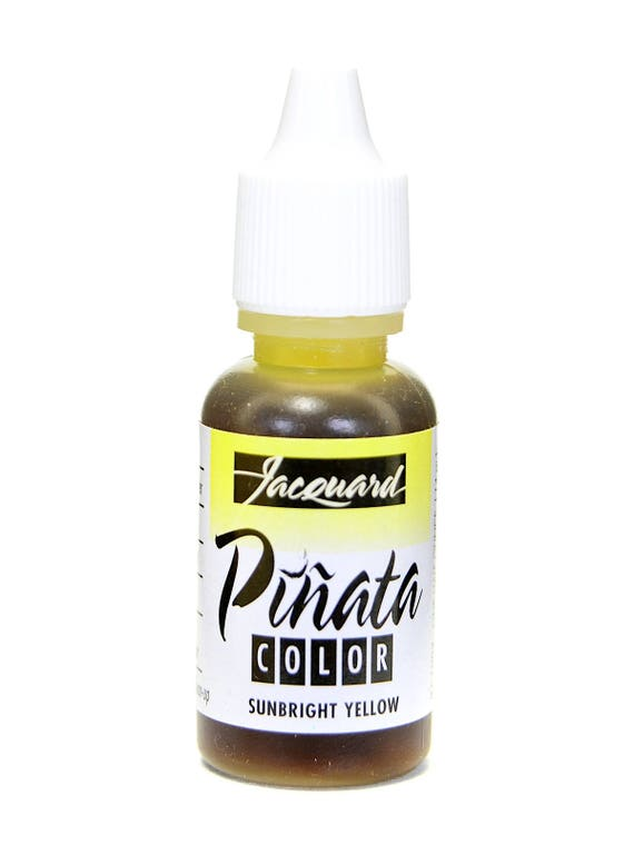 Sunbright YellowJacquard Pinata Alcohol Ink alcohol based high vibrancy transparent colors. Perfect for polymer clay & more