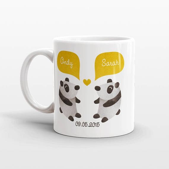 PANDA Mug Valentines Day Gift for Him for Her Couple Mug Unique Anniversary Wedding Gift Idea Personalized Coffee Mug Coffee Cup Animal Mug