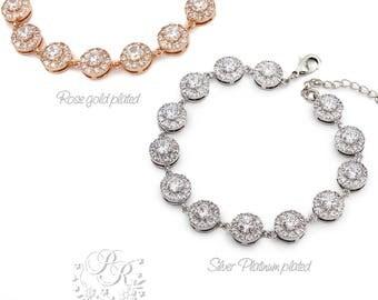 Wedding Bracelet Zirconia Bracelet Wedding Jewelry Bridal Bracelet Bridesmaid Bracelet Bride Bracelet Wedding Accessory Bridal Jewelry Tvis