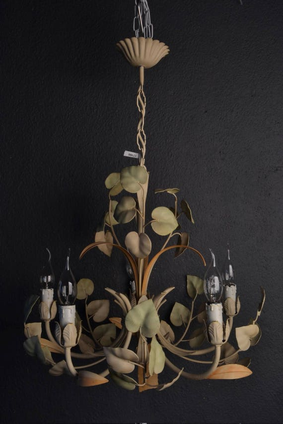 Tole chandelier without flowers (Reserved)