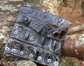 Recycled Alligator Leather Pouch