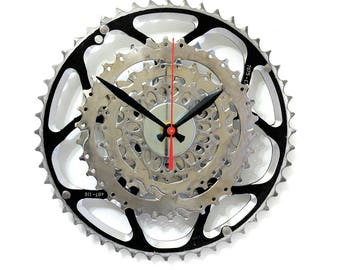 Shimano Bicycle Wall Clock - Industrial Wall Clock - Bicycle Clock - Bike Clock - Sram - Unique Wall Clock - Boyfriend Gift - Husband Gift