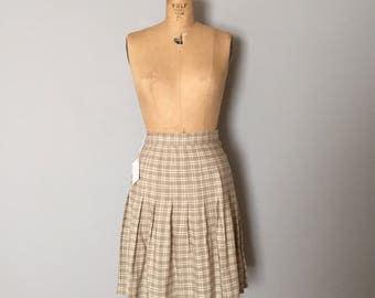 light olive plaid pleated skirt | schoolgirl preppy plaid mini skirt